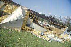 Dom na kółkach obracał do góry nogami Obrazy Stock