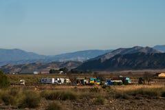 Dom na kółkach w głębie lądu Murcia Obraz Royalty Free