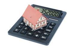 Dom na kalkulatorze zdjęcie stock
