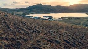 Dom Na Loch Zewnętrzny Hebrides Szkocja zdjęcie stock