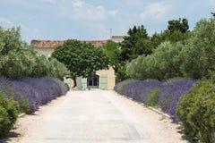 Dom na wsi blisko Montpellier Zdjęcia Royalty Free