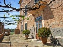 dom na wsi morza Śródziemnego Obraz Stock