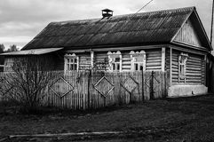 Dom na wsi w jesieni Fotografia Royalty Free