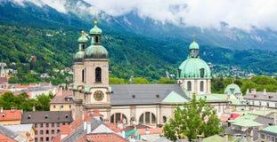 DOM nel centro di Innsbruck, Austria immagine stock libera da diritti