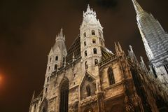 Dom by night. Stephan Dom by night from wien Stock Image