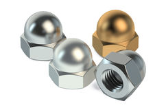 Dom nuts or cap nuts Royalty Free Stock Image