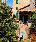 Dom obramiający z drzewami Fotografia Stock