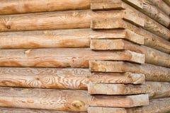 Dom od drewnianych bel zdjęcie royalty free