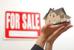 dom offerred sprzedaży Zdjęcie Stock