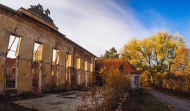 Dom oficera. House of officer in Borne Sulinowo Royalty Free Stock Photos