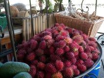 Dom opierający się owocowy vending miejsce Hawaje Fotografia Stock