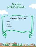 dom otwarty ilustracji