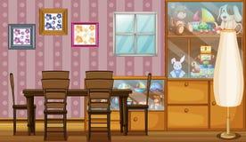 Dom pełno zabawki i ramy royalty ilustracja