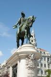 Dom Pedro droppstaty - Porto - Portugal royaltyfria foton