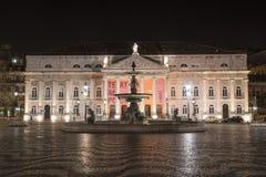 DOM Pedro IV τετράγωνο στη Λισσαβώνα Στοκ Εικόνα