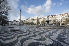 DOM Pedro IV τετράγωνο στη Λισσαβώνα Στοκ Φωτογραφίες