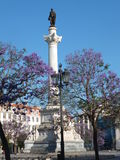 Dom Pedro IV Column, Lisbon Stock Photo