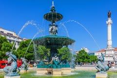 Dom Pedro IV Square, Lisbon Royalty Free Stock Photo