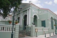 Dom Pedro Theatre in Macau. Macau, China - May 5 - The Dom Pedro Theatre in Macau royalty free stock photo