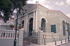 The Dom Pedro Theatre in Macau. Macau, China - May 5 - The Portuguese colonial architecture in Macau, Dom Pedro Theatre royalty free stock photos