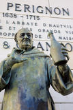 Dom Perignon standbeeld royalty-vrije stock fotografie