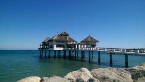 Dom plaża Fotografia Stock