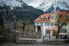 Dom pod Alps Obrazy Stock