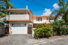 Dom przy błękit zatoką, Mauritius Fotografia Royalty Free