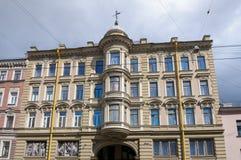 Dom przy Gorokhovaya ulicą, 64, w którym był przed morderstwem Grigory Rasputin ostatni mieszkanie Rasputin jest przysługą Fotografia Royalty Free