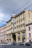 Dom przy Gorokhovaya ulicą, 64, w którym był przed morderstwem Grigory Rasputin ostatni mieszkanie Rasputin jest przysługą Obrazy Royalty Free