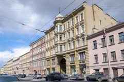 Dom przy Gorokhovaya ulicą, 64, w którym był przed morderstwem Grigory Rasputin ostatni mieszkanie Rasputin jest przysługą Zdjęcie Stock