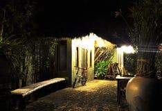 Dom przy Nighttime Fotografia Stock