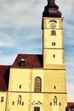 Dom przy St Pölten krzyżem rozwijać Obrazy Stock