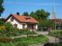 Dom przy wejściem Tradgardsforeningen. Linkoping. Szwecja zdjęcie royalty free