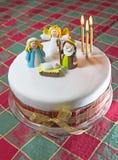 Dom robić boże narodzenie tort Zdjęcia Royalty Free