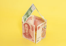 Dom robić chińczyka Juan banknoty Zdjęcie Royalty Free