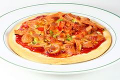 Mieszana kiełbasiana pizza Zdjęcia Stock