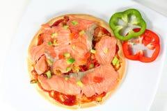 Uwędzona łososiowa pizza Zdjęcie Royalty Free