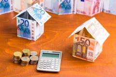Dom robić banknoty Obraz Stock