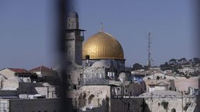Dom of the rock. The dome of the rock is an area in the southeast corner of the old city of Jerusalem stock video