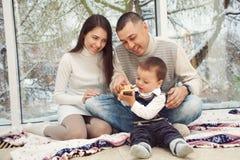 dom rodzinny bawić się Fotografia Royalty Free