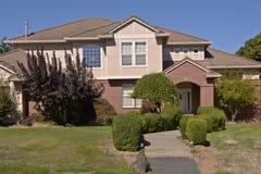 Dom rodzinny w Szczęśliwym dolinnym Oregon obrazy royalty free