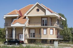 dom rodziny nowocześnie Zdjęcie Stock
