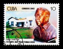 Dom Roig, 125th rocznica narodziny Juan Tomas Roig ser Obraz Stock