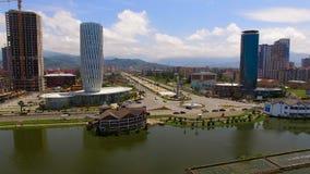 Dom sprawiedliwość w Batumi blisko bohaterów Obciosuje przeciw pejzażowi miejskiemu, architektura zbiory