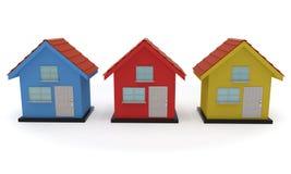 Dom sprzedaży barwiony pojęcie, 3d rendering Fotografia Royalty Free