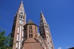 Dom Square och för helig Treenighet kolonn Szeged - Ungern Royaltyfria Bilder