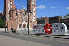 Dom Square och för helig Treenighet kolonn Szeged - Ungern Fotografering för Bildbyråer