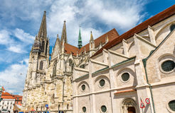 Dom St. Peter, the Cathedral of Regensburg in Germany Stock Photo