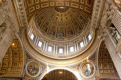 Dom of St Peters basilica Royalty Free Stock Images